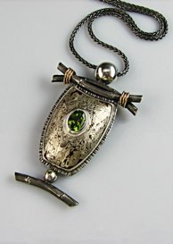 Gallery mokume series pendantbr sterlingcopper mokume gane 14k gold aloadofball Gallery